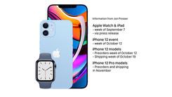 苹果新品发布时间曝光 iPhone 12/12 Pro分批预订及开售