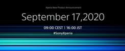 索尼宣布9月17日举行新品发布会